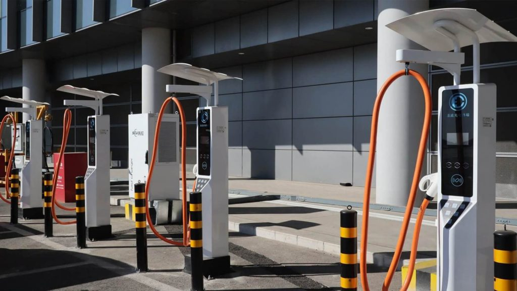 SCU EV charger at Daxing airport